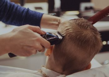 child getting their hair shaved