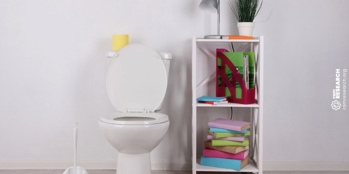Picture of small toilet