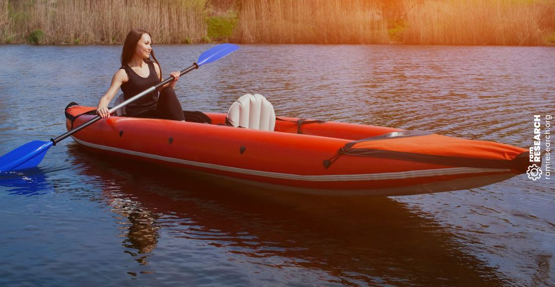 woman on a kayak
