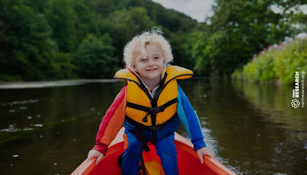 Life jacket on a child