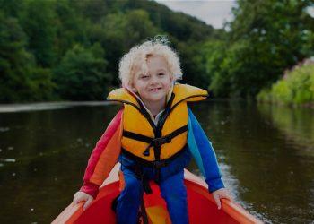 Life jacket on a child