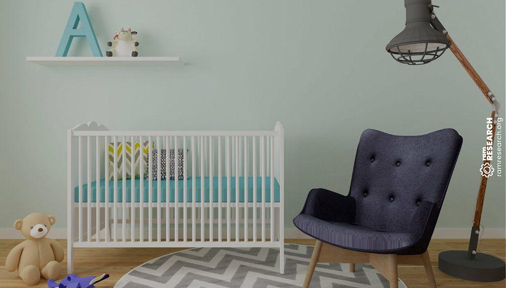 Picture of a mini crib