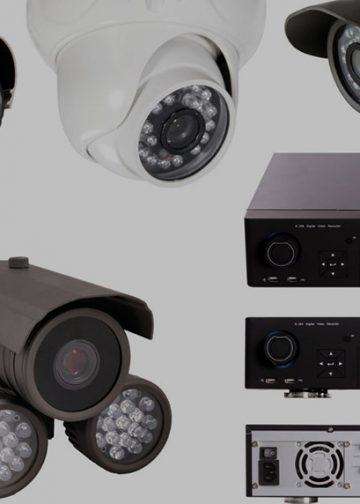 collection of home security cameras