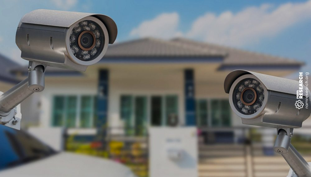 security cameras out front a house