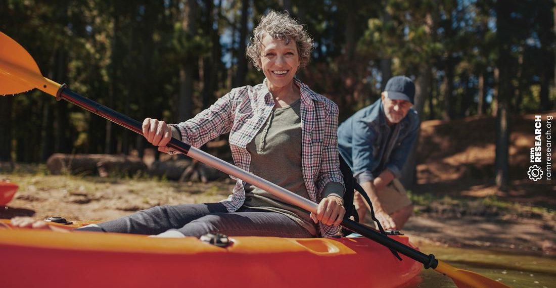 lady on a kayak