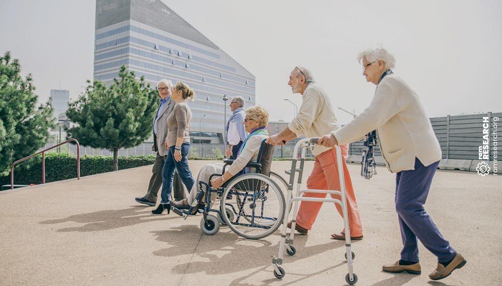 Group of elderly people outdoors
