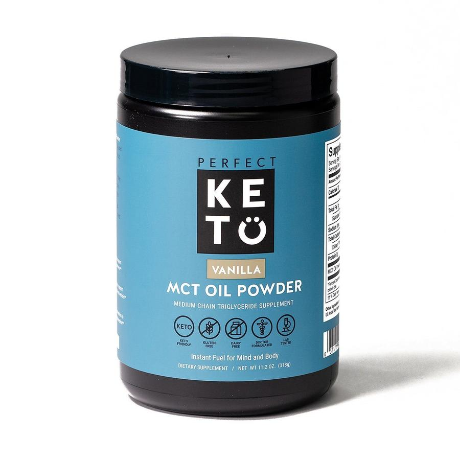 MCT Oil Powder vanilla bottle perfect keto