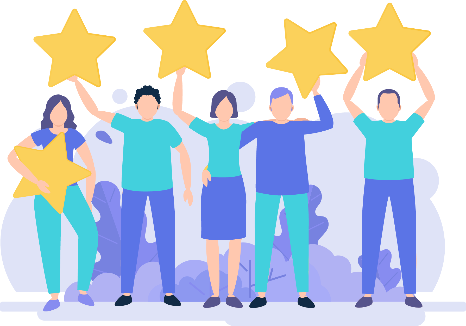 About us Ramresearch five people holding review stars