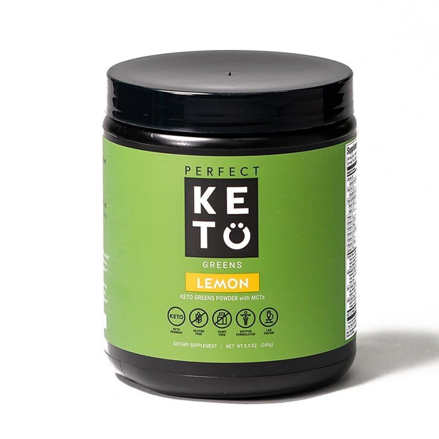 greens powder bottle perfect keto