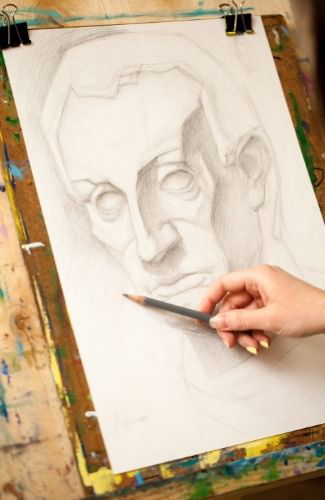 sketching a face