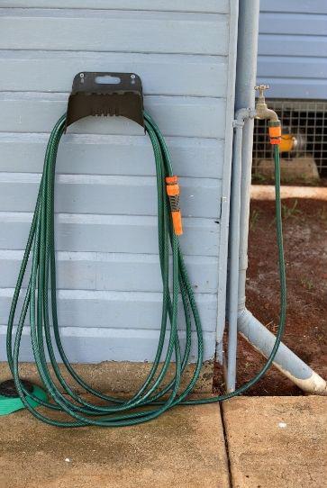 garden hose coiled up